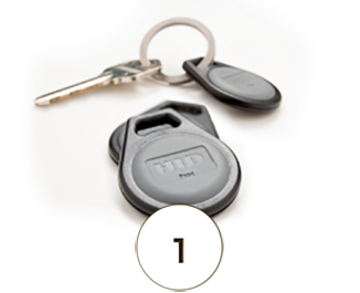 key fobs for managed access control